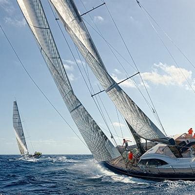 racing sailboat sails