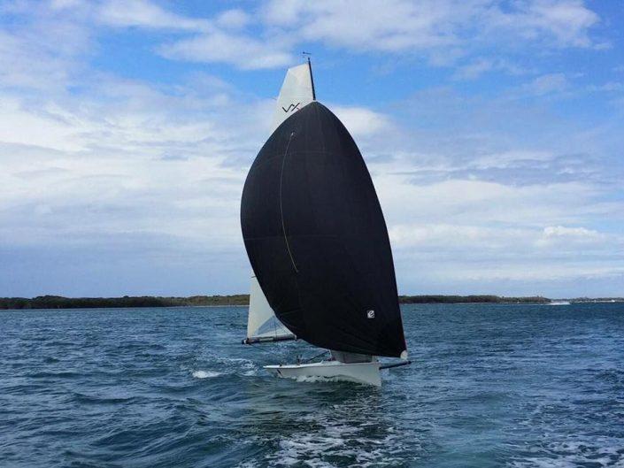 black racing sail
