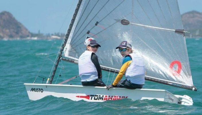 racing sailboat