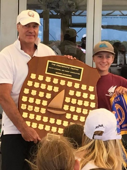 racing sailboat trophy