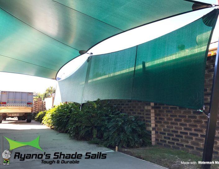 Green pathway shade sail