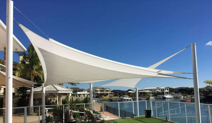 Backyard shade sail