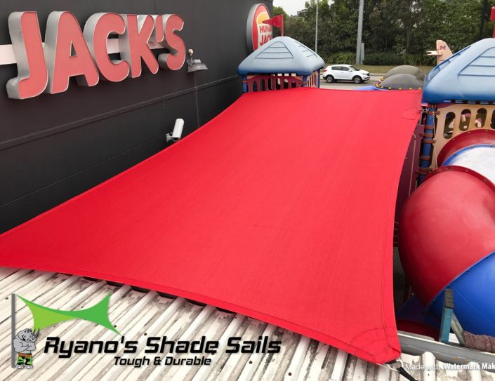 Red shade sail