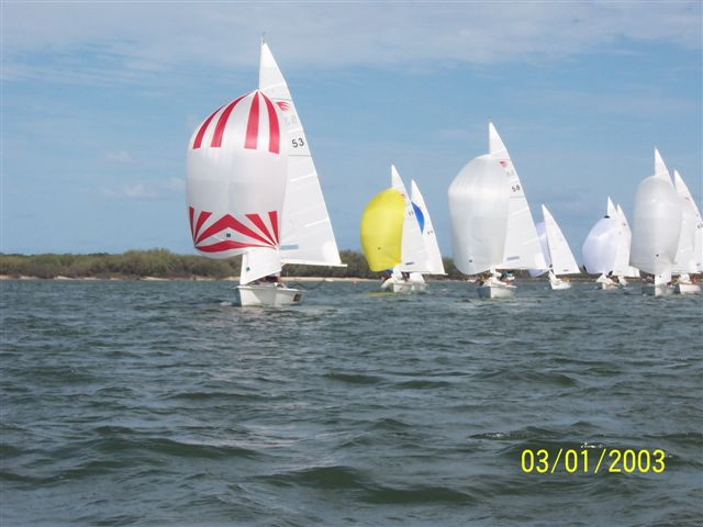 coloured custom racing sails