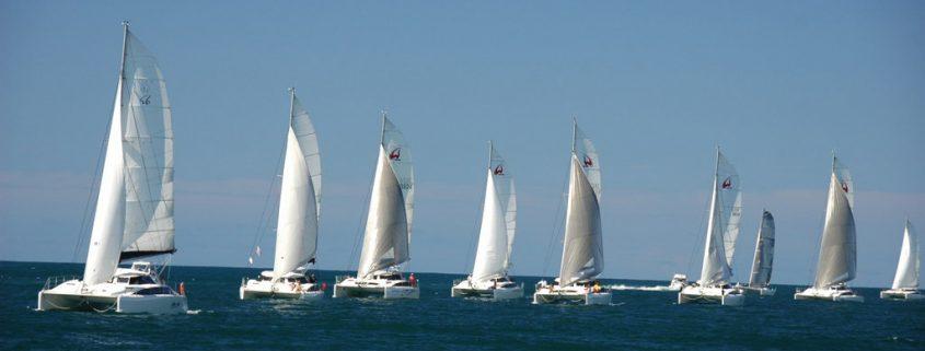 custom white yacht sails
