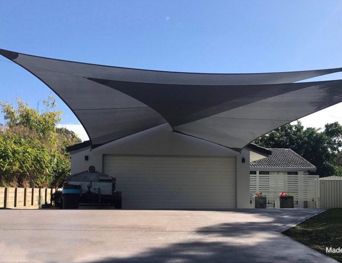 Driveway shade sail